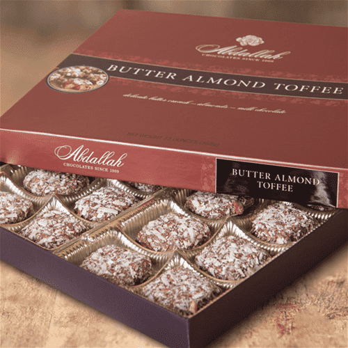 Abdallah Chocolate | Boxed Chocolate Selection ~ Butter Almond Toffee