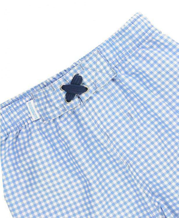 RuggedButts | Swim Trunks ~ Cornflower Blue Gingham