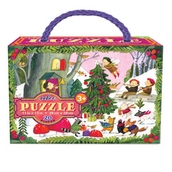 Christmas in the Woods 20 Piece Glitter Puzzle