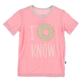 Kickee Pants Short Sleeve Tailored Fit Graphic Tee ~ Lotus I Donut Know