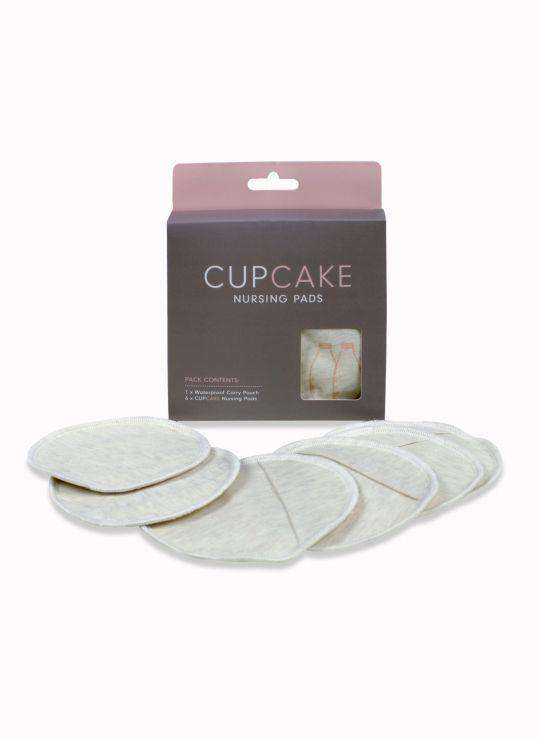 Cupcake Re-usable Nursing Pads | 3 Pair + Carry Pouch (6301827649)