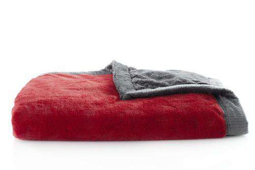 Saranoni Luxury Blanket | Candy Apple Lush~ Charcoal Lush