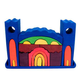 Gluckskafer Toys ~ Large Castle Stacking Toy Colored