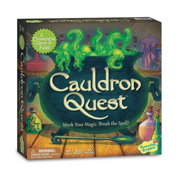 Peaceable Kingdom ~ Cauldron Quest Cooperative Potions and Spells Game for Kids