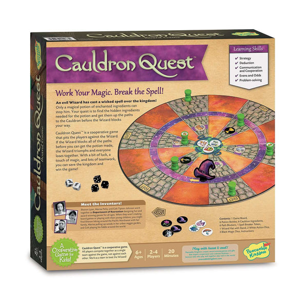Peaceable Kingdom | Board Games ~ Cauldron Quest Cooperative Potions and Spells Game for Kids