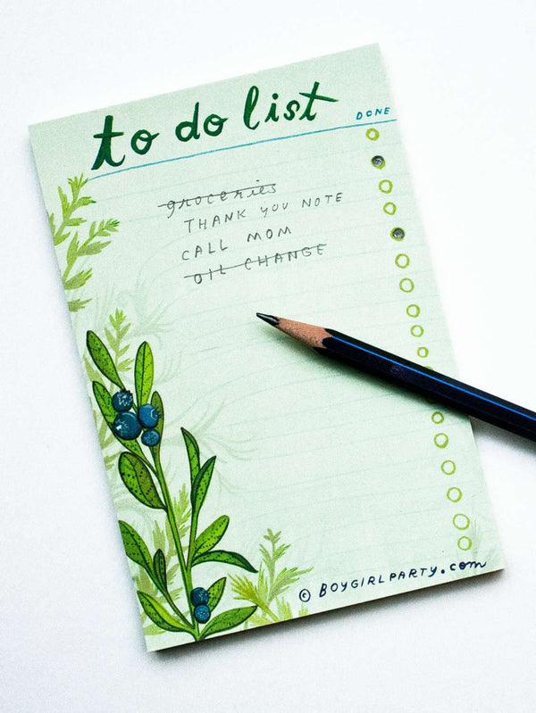 Boygirlparty - Recycled Paper Daily To Do List Notepad