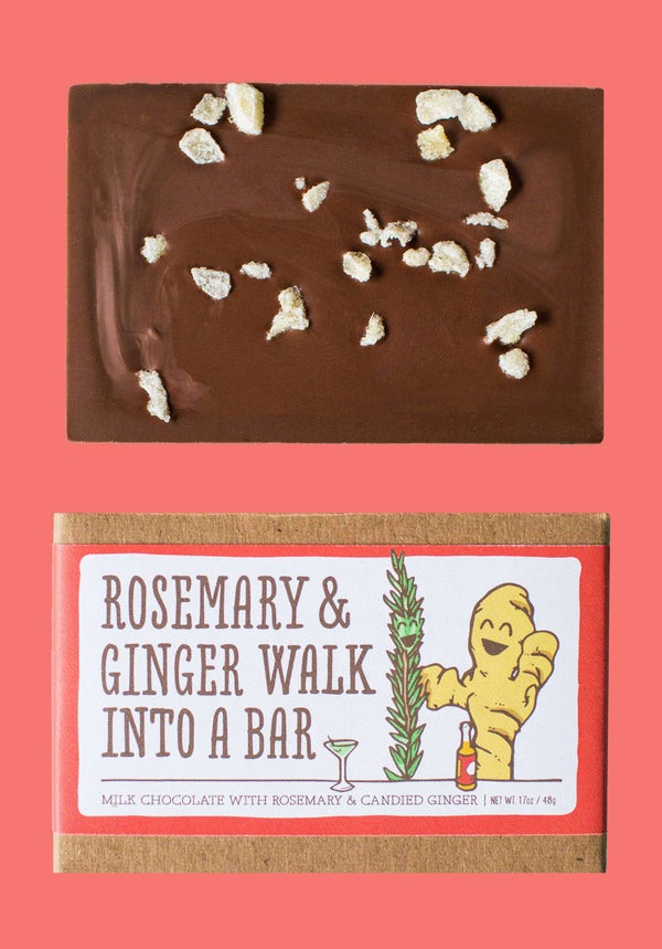 Only Child Chocolate Co - Rosemary and Ginger Walked Into a Bar Chocolate
