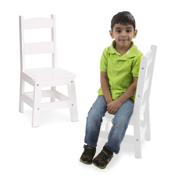 Melissa & Doug | Solid Wood Chairs 2 ~ White