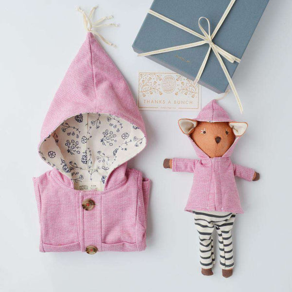 Hazel Village ~ Elf Jacket In Clover Pink