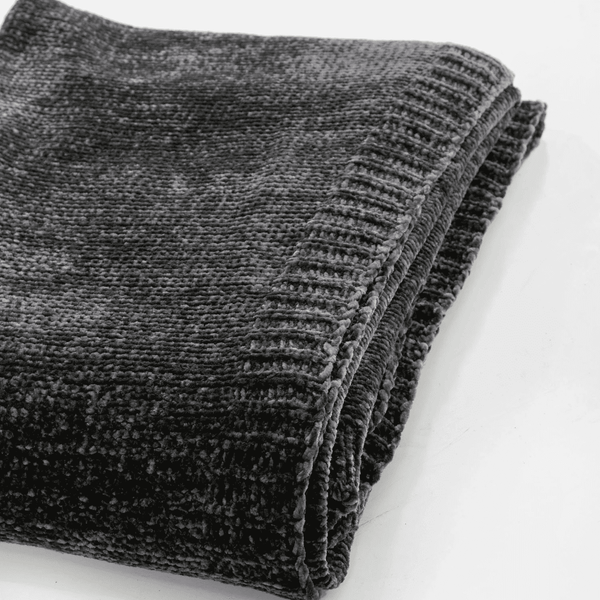 Saranoni Luxury Blanket | Chenille - Coal
