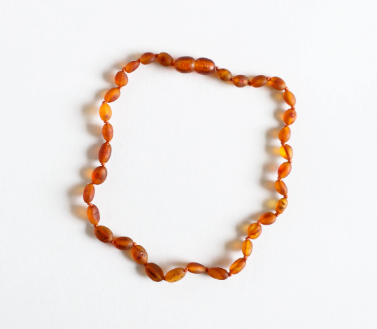CanyonLeaf Classic Raw Cognac Amber Children's Necklace