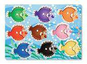 Melissa & Doug | Peg Puzzle Colorful Fish