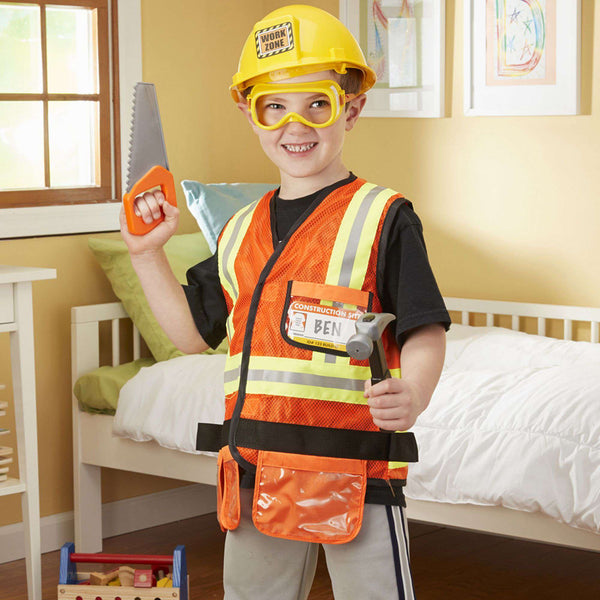 Melissa & Doug | Construction Worker Role Play Costume Set
