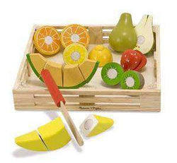 Melissa & Doug | Wooden Play Food | Cutting Fruit