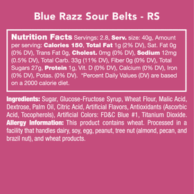 Candy Club ~ Blue Razz Sour Belts