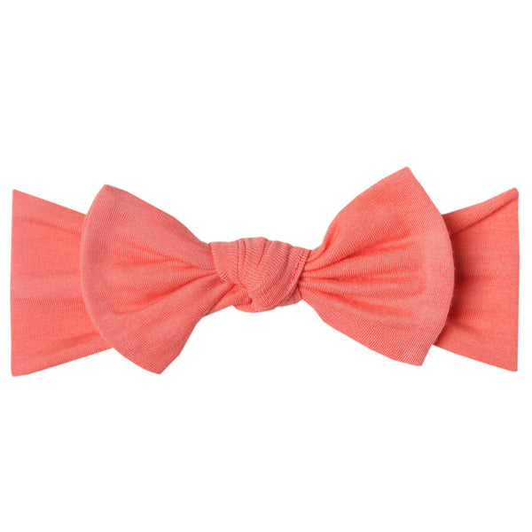 Copper Pearl Knit Headband Bow ~ Stella