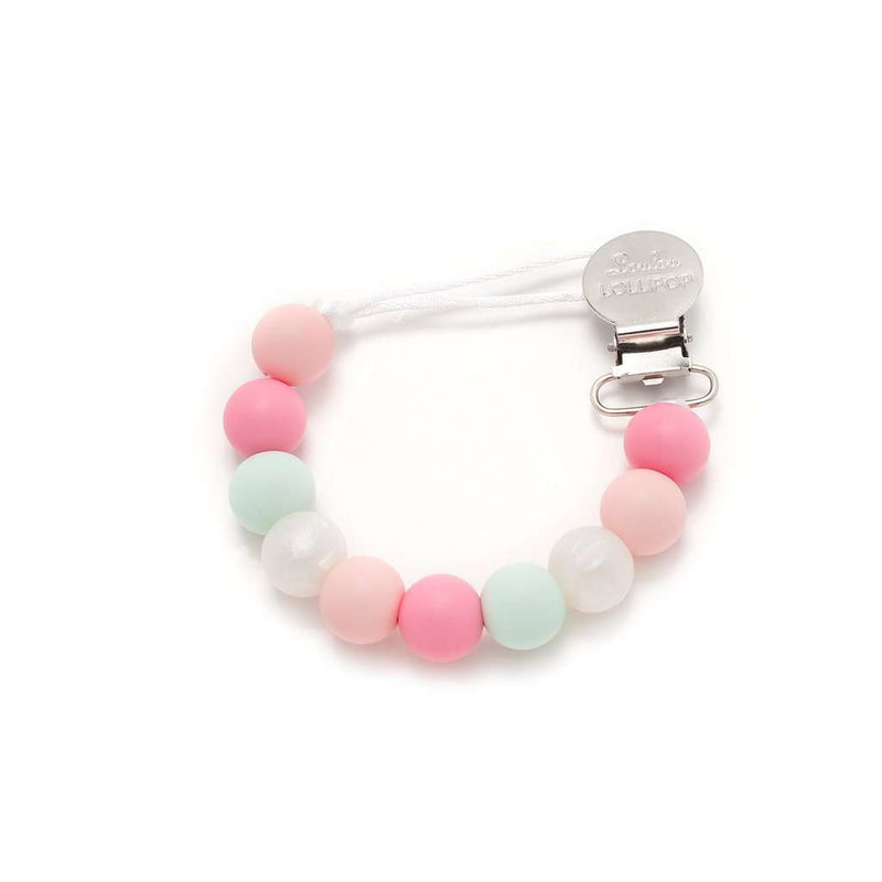 Loulou Lollipop | Lolli Pacifier Clip ~ Pink / Mint