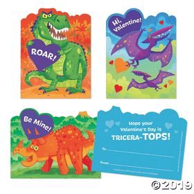 Peaceable Kingdom | Scratch & Sniff Valentines ~ Dinosaur