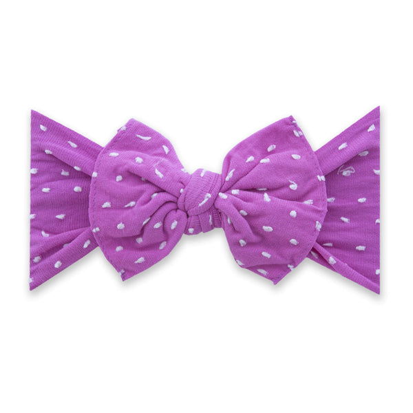 Baby Bling Bows |  Patterned Shabby Knot ~ Barbie Dot