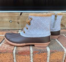 Simply Southern | Zip Up Duck Boots ~ Heather