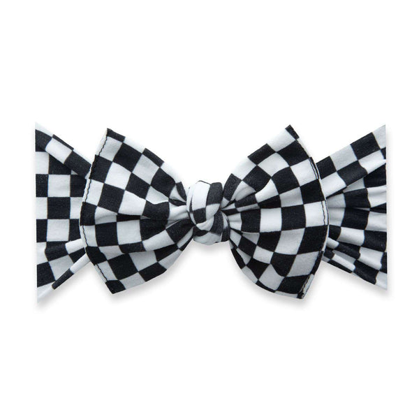 Baby Bling Bows |  Patterned Knot ~ Checkmate