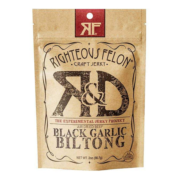 Righteous Felon Craft Jerky  -  Black Garlic Biltong