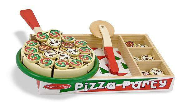 Melissa & Doug | Wooden Play Food | Pizza Party