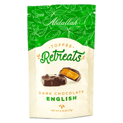 Abdallah Chocolate | Retreats ~ English Butter Toffee Dark Chocolate