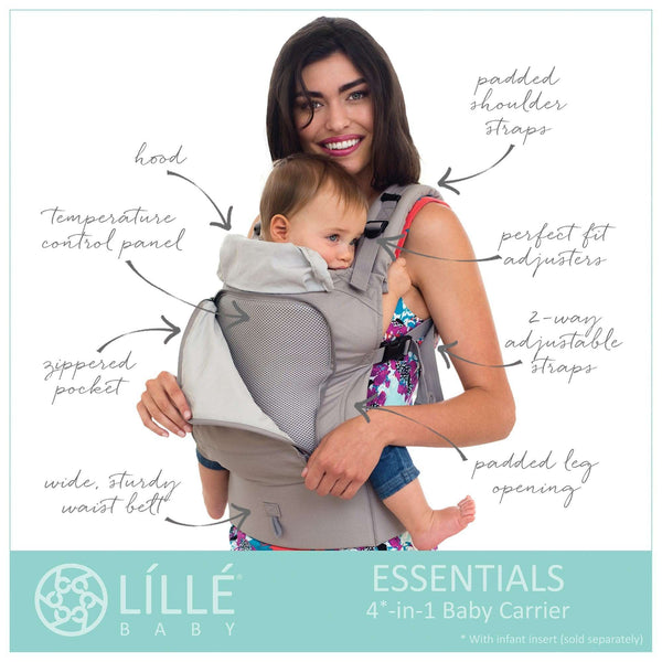 Lillebaby Baby Carriers | Essentials All Seasons Stone