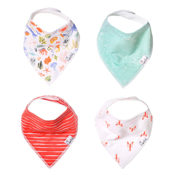 Copper Pearl | Modern Bandana Bibs 4 Pack ~ Nautical