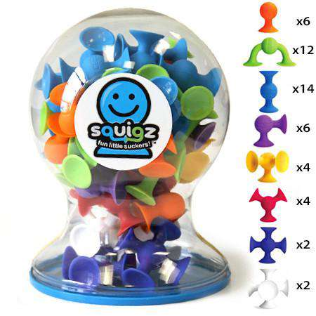 Fat Brain Toys | Squigz Deluxe Set 50 Ct