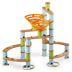 Fat Brain Toys | Bamboo Marble Run Builder
