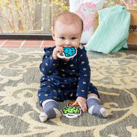 Fat Brain Toys | Brain Teether ~ Blue