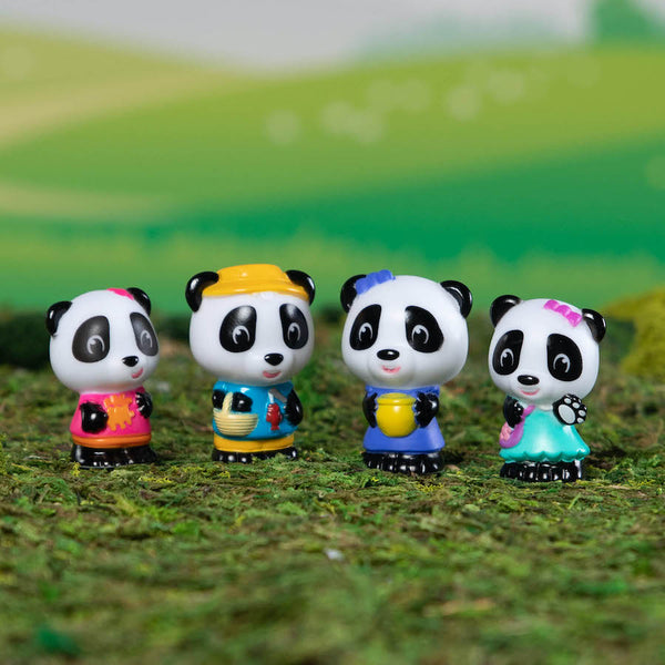 Timber Tots by Klorofil Toys ~ Panda Family set of 4