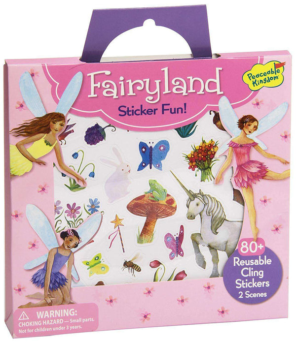 Peaceable Kingdom | Reusable Sticker Tote | Fairyland