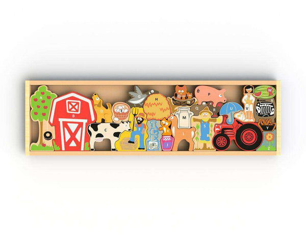 Begin Again Toys | Farm A to Z Puzzle Playset