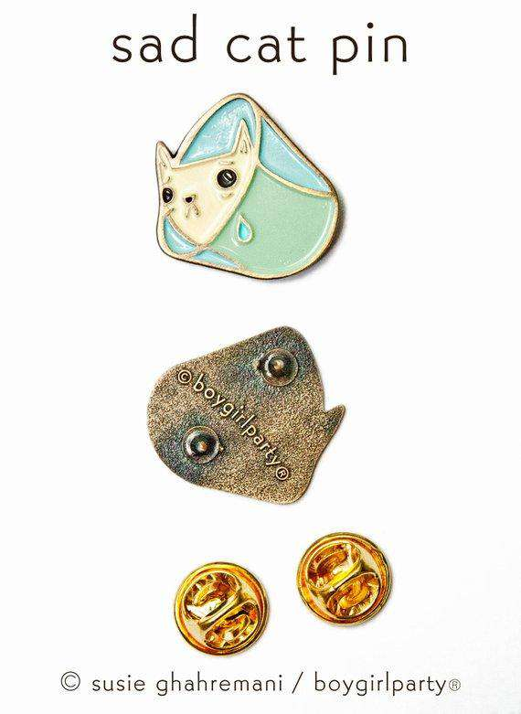 Boygirlparty - Sad Cat Enamel Pin