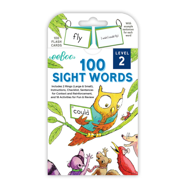 Flash Cards | 100 Sight Words Level 2