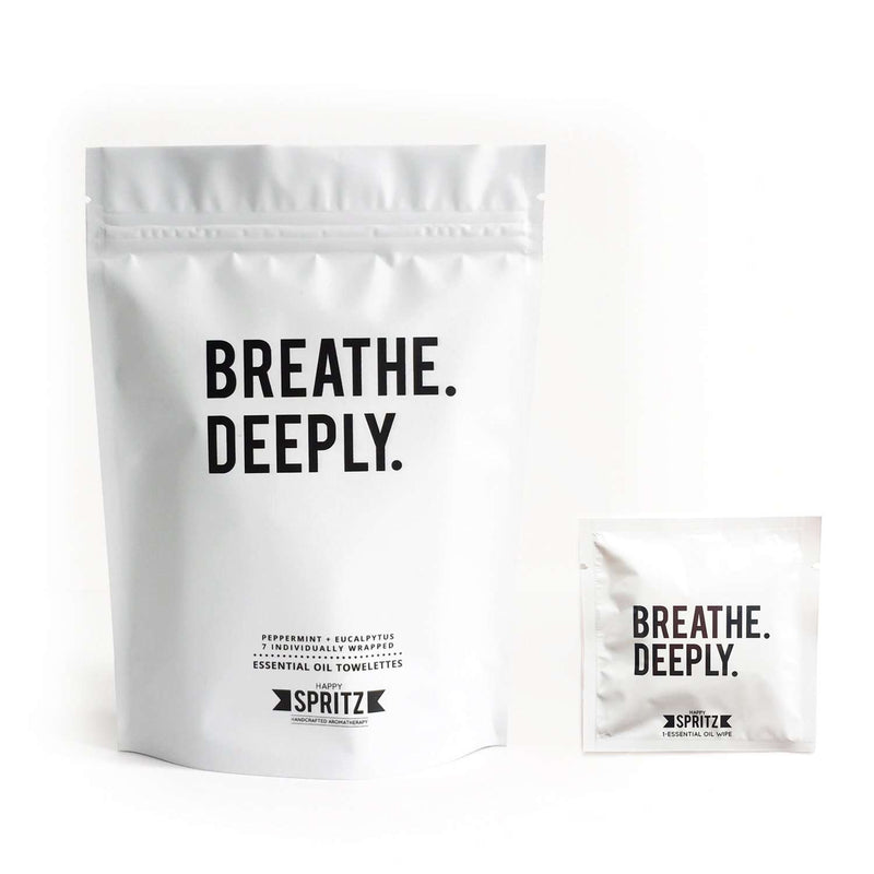 Happy Spritz - Breathe Deeply Towelettes 7 Day Bag