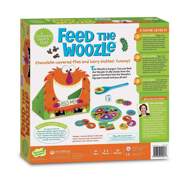 Peaceable Kingdom ~ Feed The Woozle Preschool Skills Builder Game