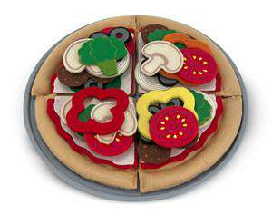 Melissa & Doug | Felt Play Food | Pizza Set