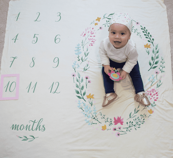 Bumblito | Memory Stretch Swaddle Set ~ Field of Flowers