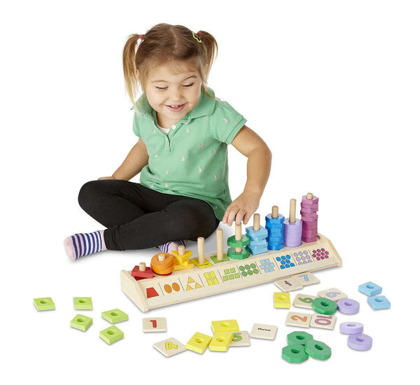 Melissa & Doug | Counting Shape Stacker