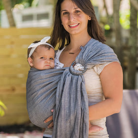 Studio Tekhni | graphite + smoke grey | ring sling baby carrier