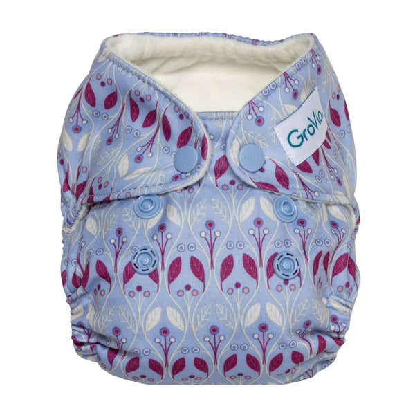 GroVia Newborn All-in-One Cloth Diapers - Waverly