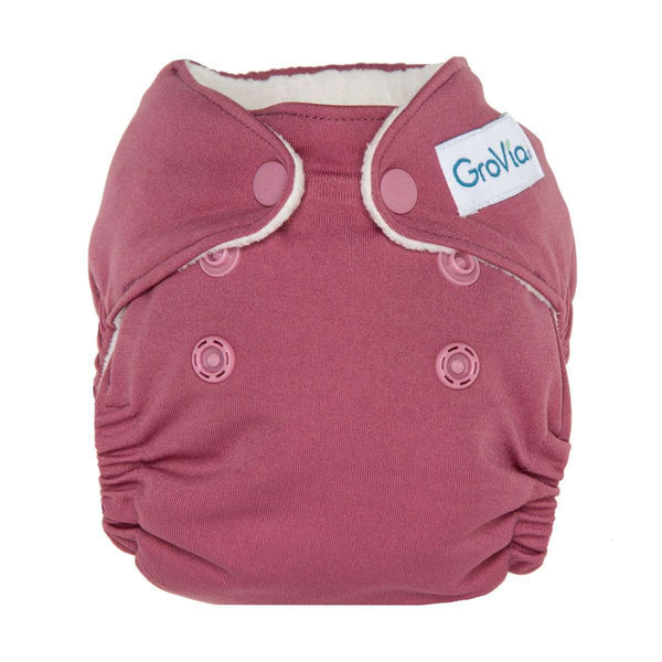 GroVia Newborn All-in-One Cloth Diapers - Petal