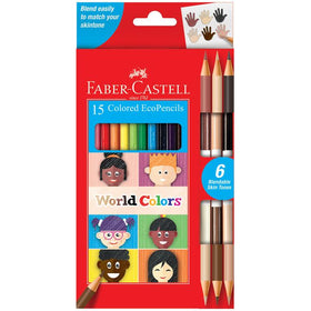 Faber - Castell | World Colors - 15 Colored EcoPencils