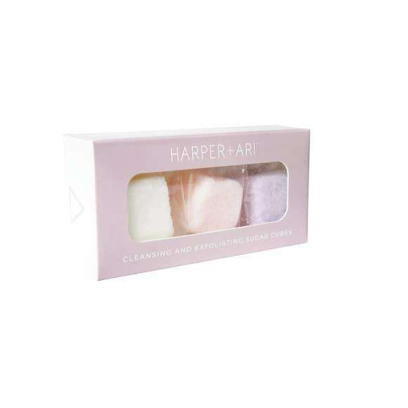 Harper + Ari | Exfoliating Sugar Cubes - Mini Giftbox ~ Coconut, Rose, Dream