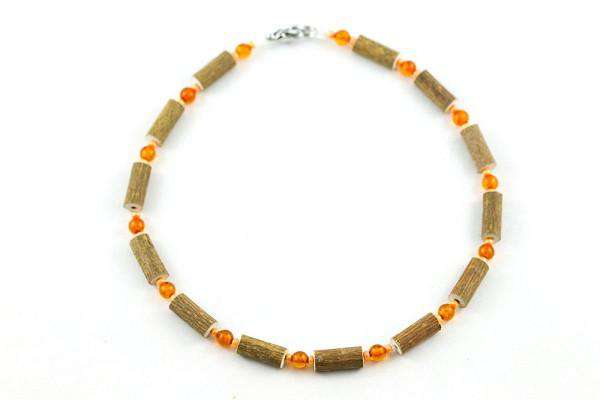 Healing Hazel | Hazelwood & Amber Children's Necklace | Orange (5752126145)