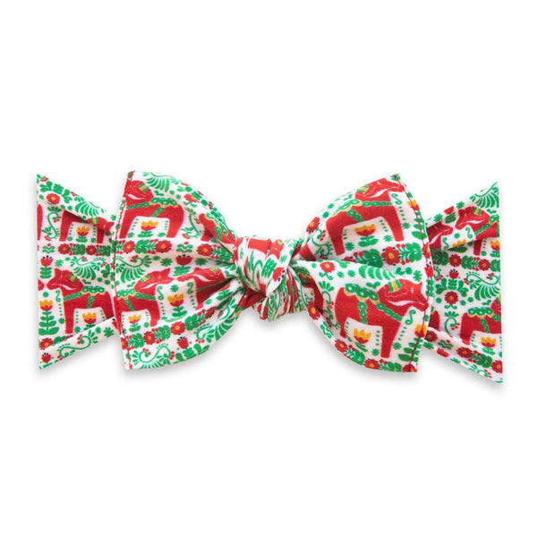 Baby Bling Bows | Holiday Collection Printed Knot ~ Holi-dala-day *final sale*